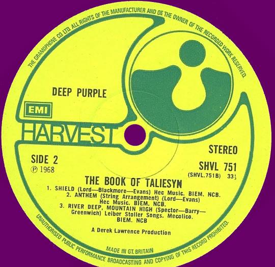deep purple - the book of taliesyn 1968