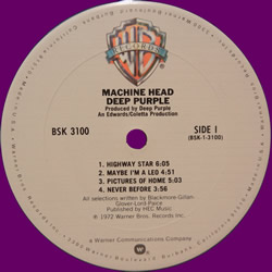 Machine Head, LP, Usa, 1972