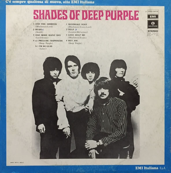 Shades Of Deep Purple (1968) LP Italia