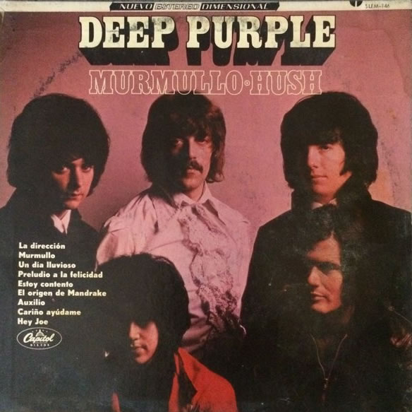 Shades Of Deep Purple (1968) LP Mexico