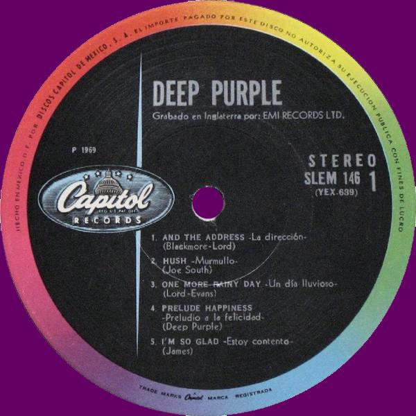 Shades Of Deep Purple (1968) LP Mexico