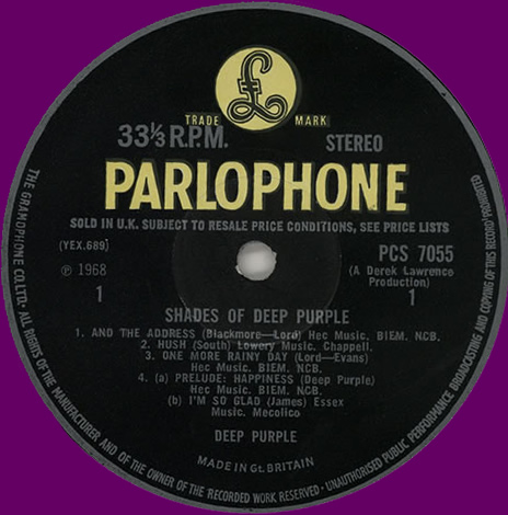 Shades Of Deep Purple (LP, UK, 1968)