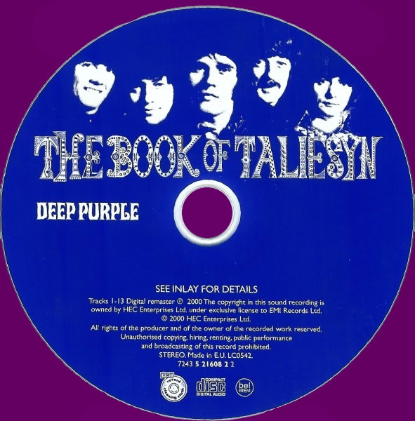 The Book Of Taliesyn (CD, Remasteret, 2000)
