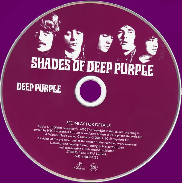 Shades Of Deep Purple (2000) CD
